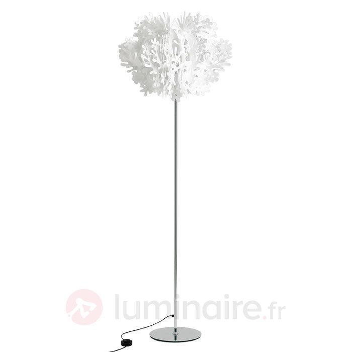 Lampadaire Fiorella avec des éléments floraux - Lampadaires design