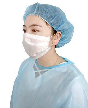 Masque facial en papier - Taille: 17.5 * 9.5cm Couleur: Bleu / blanc / rose / vert Style: 1/2 ply Matériel