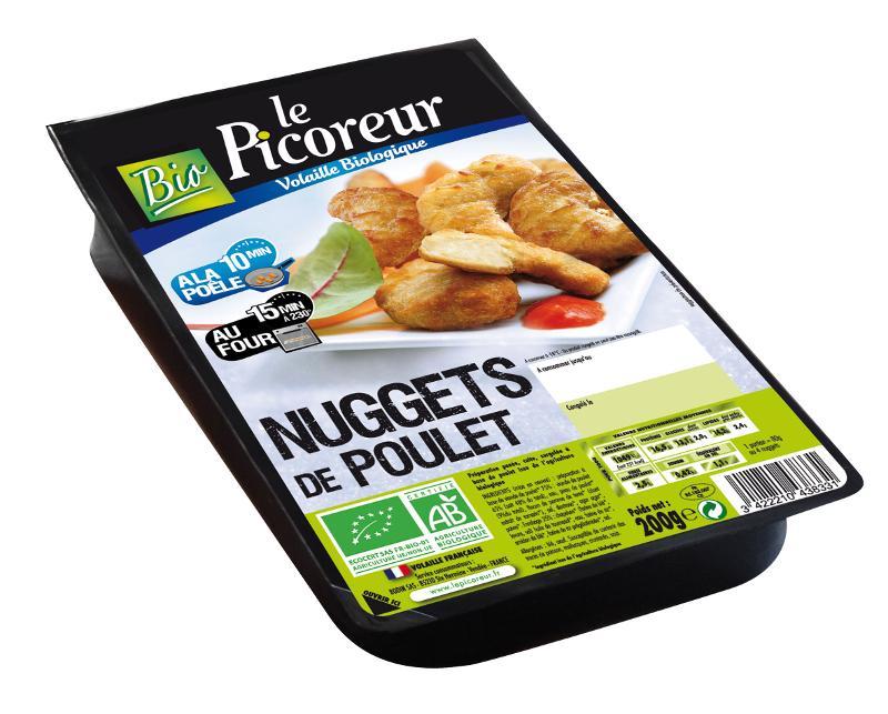 Nuggets de poulet - Poulet Biologique et surgelé