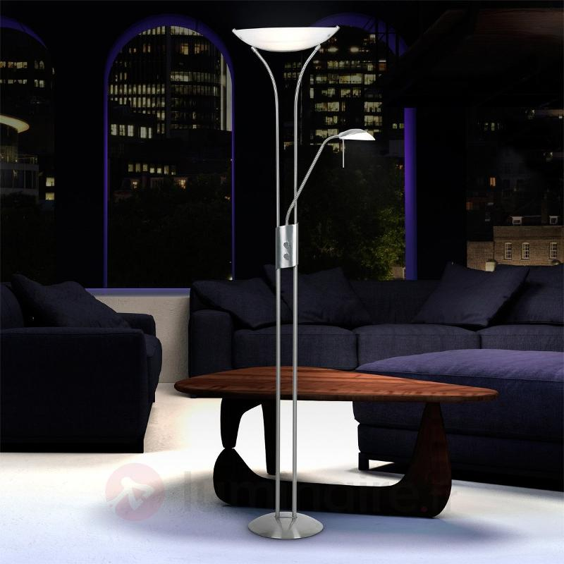 Lampadaire éclairage indirect LUPO diffuseur blanc - Lampadaires à éclairage indirect