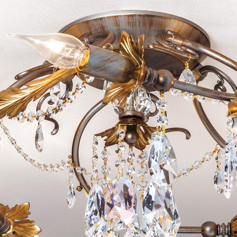 Schöler lead crystals - ceiling light Miramare - design-hotel-lighting