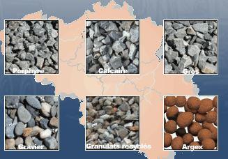 Marchandise en vrac - Sable de Rhin, sable maçon, gravier tous calibres, béton sec