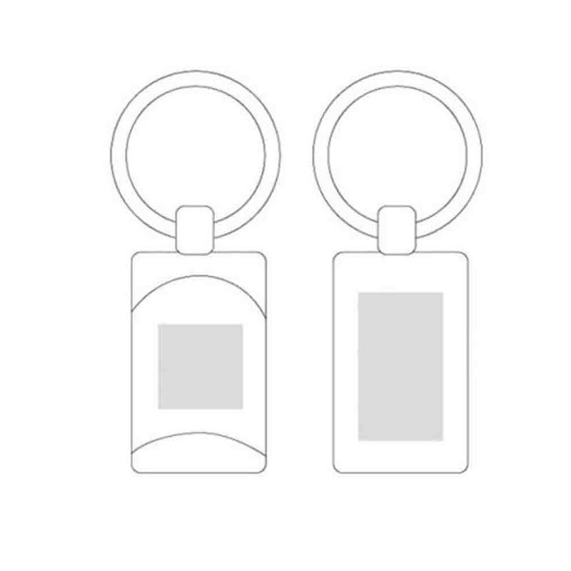 Porte-clés métal mat + surface vernie anthracite - Porte-clés métal