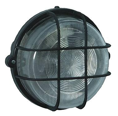 Coloured Round Lamp IP44 100W black - null