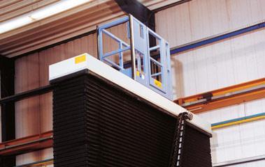 Inline lift platforms - Aeronautical industry Scissor lift platforme