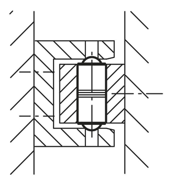 Flexibles Normteilesystem - Federnde Druckstücke glatte Ausführung, doppelseitig