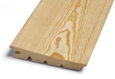 Wood cladding with certification.