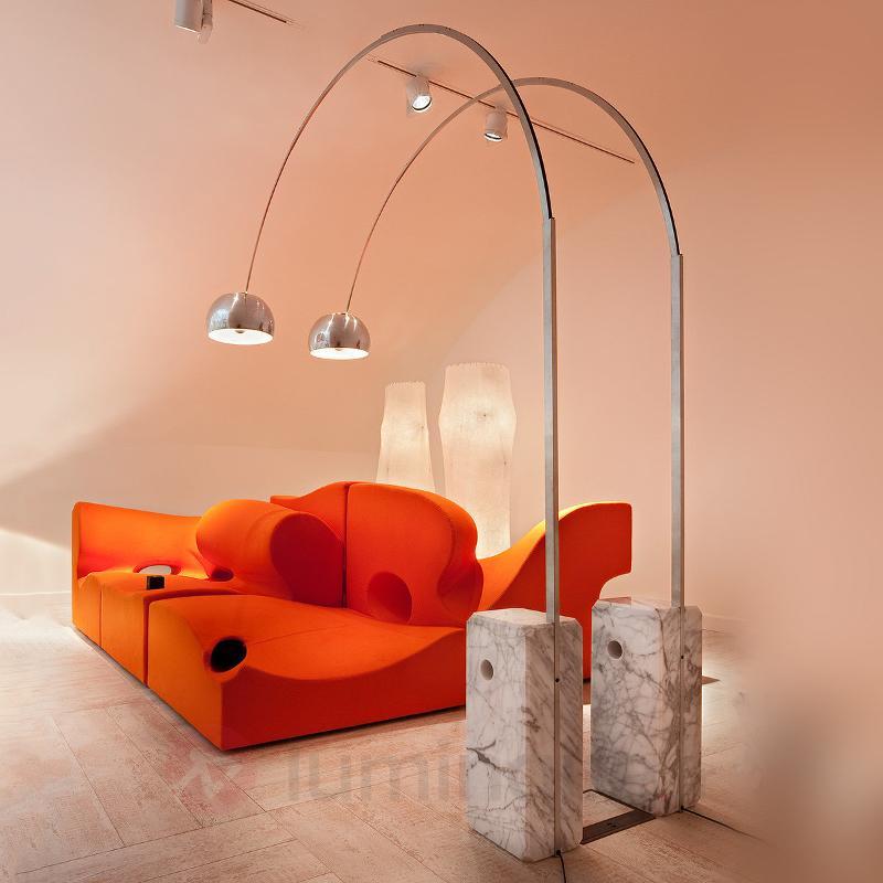 Sublime lampadaire arqué design ARCO - Lampadaires design