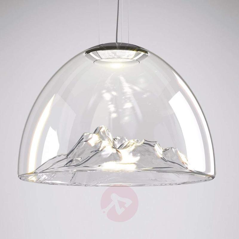 Exquisite LED designer hanging lamp Mountain View - Pendant Lighting