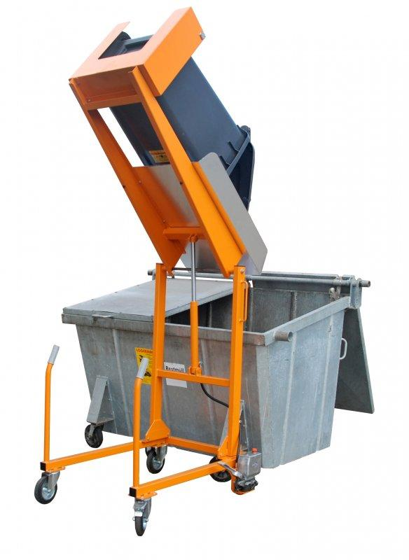 Wheelie bin tipping station type MKS - For emptying and cleaning of 120/240 litre wheelie bins