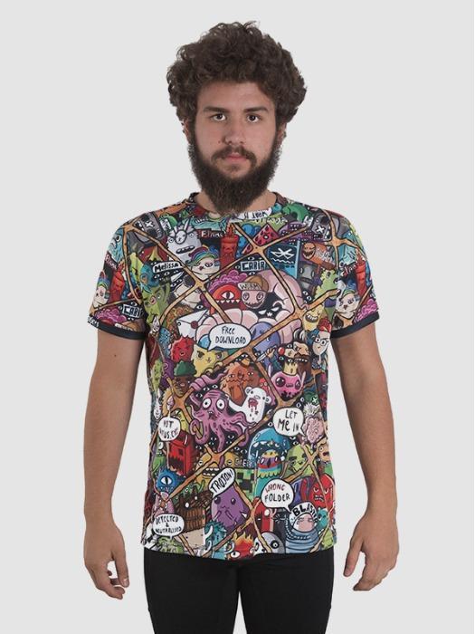Custom-Made T-Shirt Unisex - all-over dye sublimation t-shirt: 100% polyester interlock GSM: 135 gr