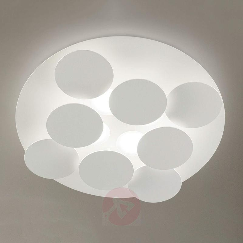 Snow white LED ceiling light Nuvola, adjustable - design-hotel-lighting