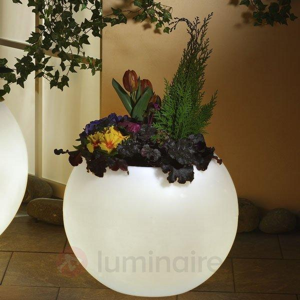 Pot de fleurs lumineux haut de gamme blanc - Lampes décoratives d'extérieur