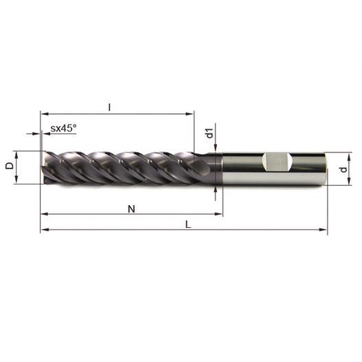 Vollhartmetallfräser VHM 477W-06 TS35 - null