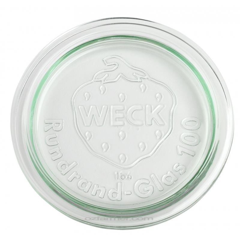 6 Coperchi di vetro per vasi WECK  - diametro 100 mm