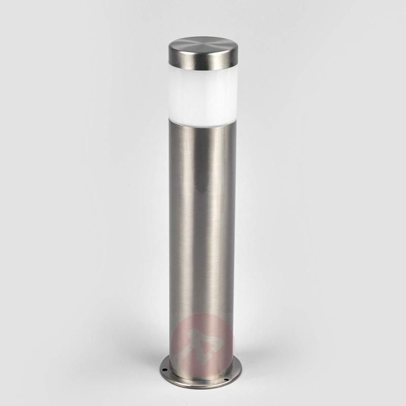 Simple stainless steel pillar lamp Belina with LED - outdoor-led-lights
