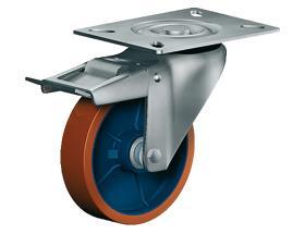 SWIVEL CASTOR WITH TOTAL LOCK - Medium Duty Castors