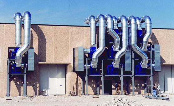 impianto di aspirazione industriale atex - aspirazione industriale atex al servizio reparto estrusori