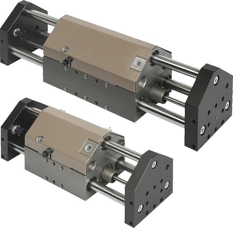 Linear modules pneumatic with three round guides - Linear modules pneumatic with two round guides