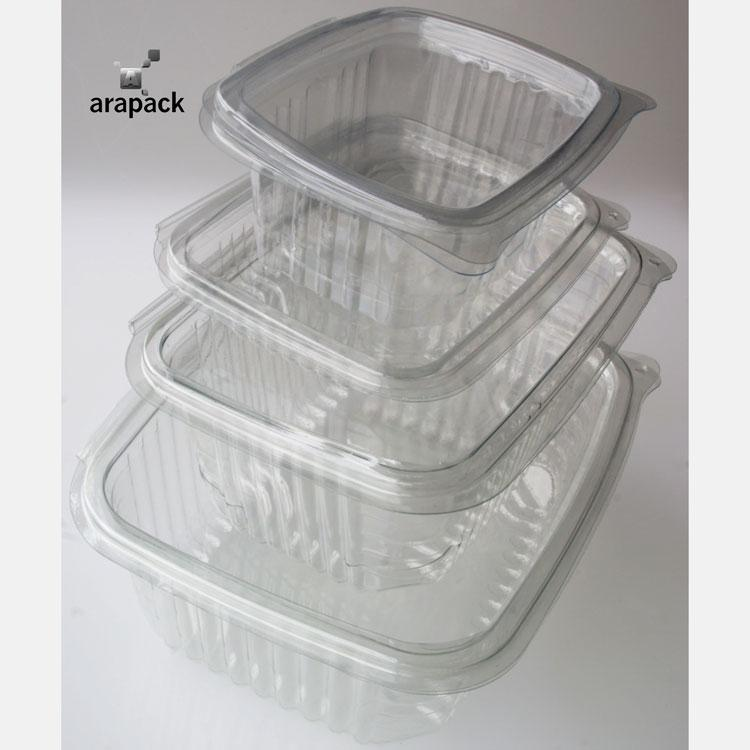 Boîte en plastique PET - Boîte avec couvercle fabriqué en PET