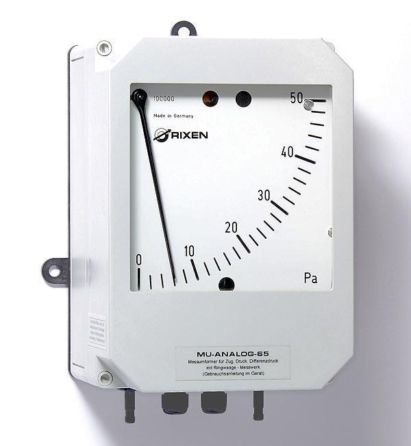 Differenzdruckmessgerät MU-Analgo-65 - Differenzdruckmessgerät für kleine Drücke mit große analoge Anzeige