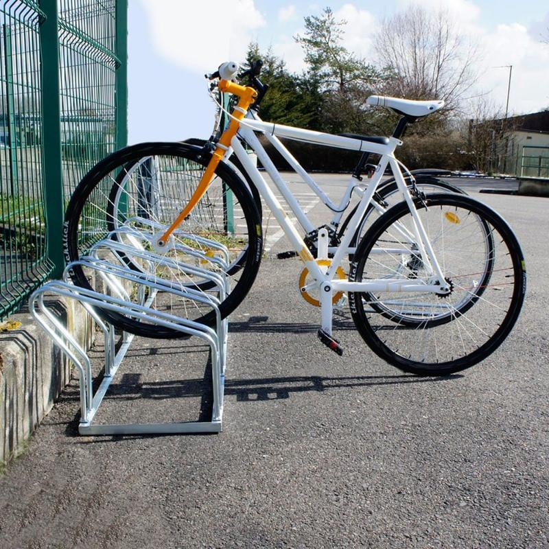 Rack à vélos 4 places à poser au sol - Mobilier urbain