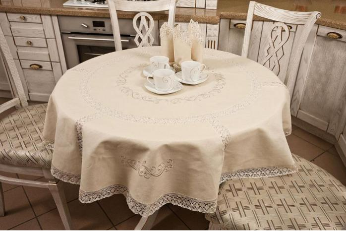 """Round tablecloth 'Ornament in a circle"""" -"""