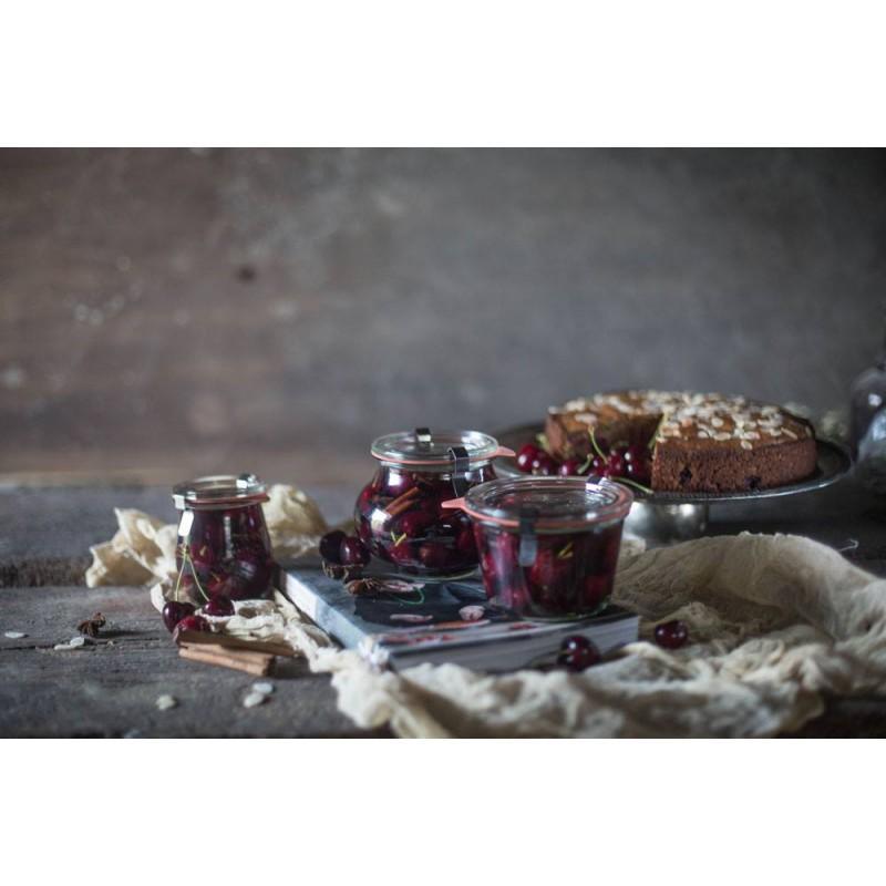 6 vasi in vetro Weck Fête® 560 ml  - con coperchi in vetro e guarnizioni (graffe non fornite)