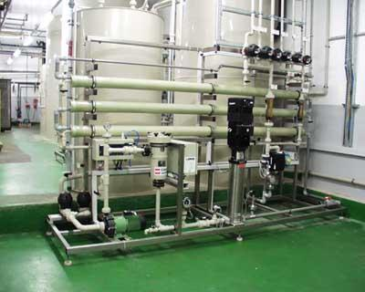 Rinse water treatment with nanofiltration (NF) - and reverse osmosis (RO) or electrodialysis (ED)