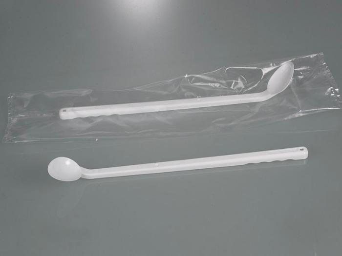 Sampling spoon curved, long handle, disposable - Sampling equipment, laboratory equipment