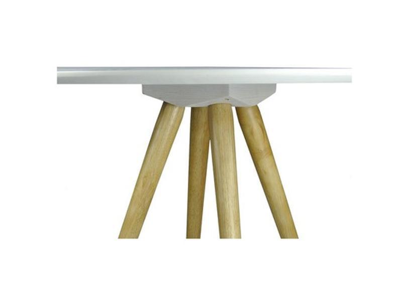 Table bistrot bois teinté blanc 129 €  - SIENNE