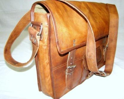 Leather Office Messenger Bag - Leather Office Cum Messenger Bag for Daily use