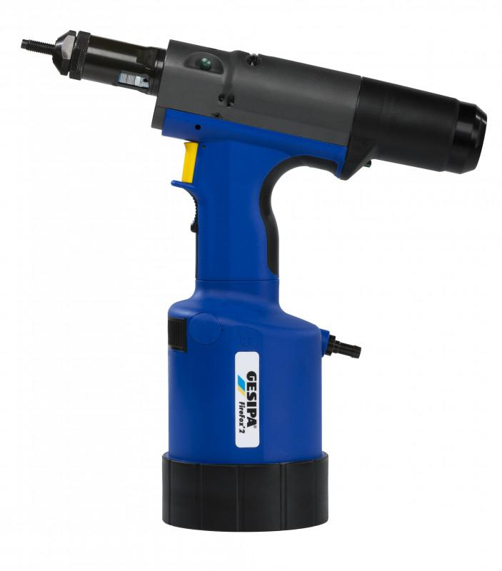 FireFox® 2 (Hydro-pneumatic blind rivet nut setting tool) - The pneumatic blind rivet nut setting tool – stroke or setting force controlled