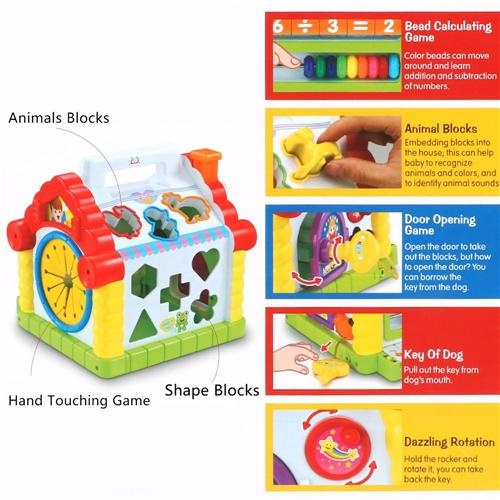 Activity cube toy for children - Wishtime Activity Cube Toy