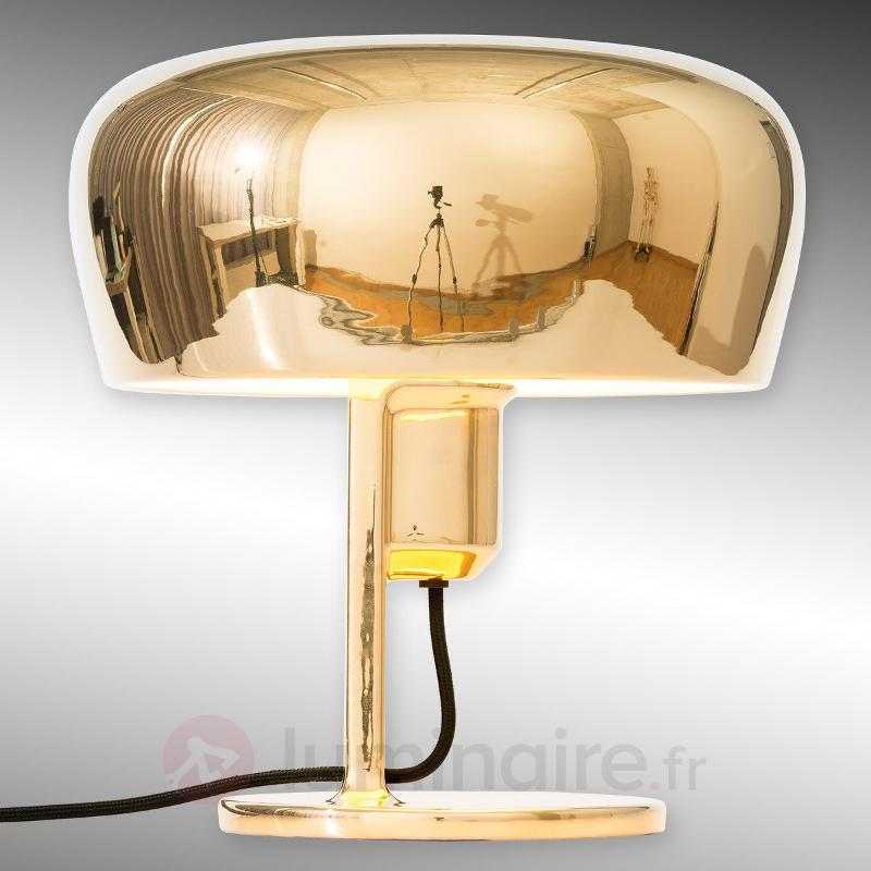 Coppola - lampe à poser céramique, doré/blanc - Lampes à poser designs