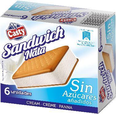 Gelado Sandwich Nata S/Açucar -