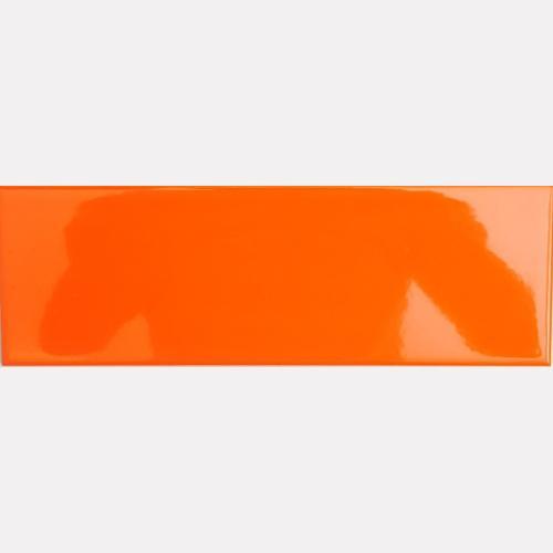 75 150mm Acid Resistant Kitchen Tile Orange Ceramic Wall Tiles Design