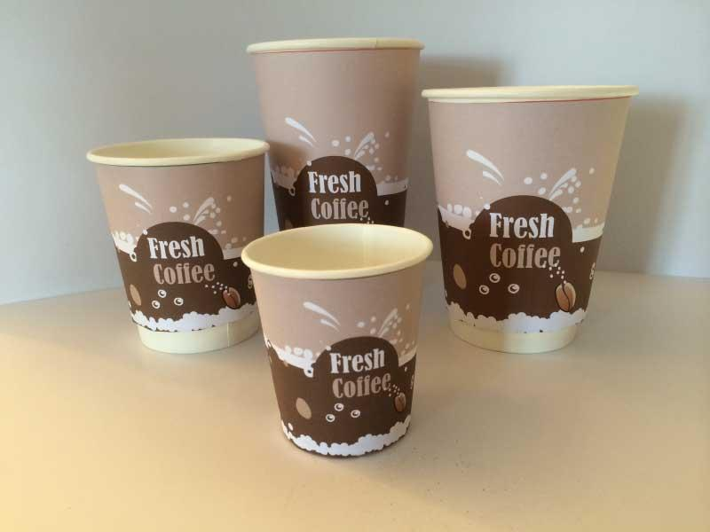 Single wall  biodegradable Paper Cups - Branded single wall paper cups