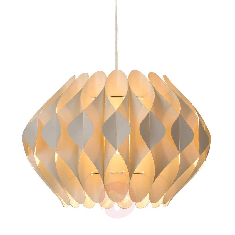 Fan-like Tanti hanging light in cream