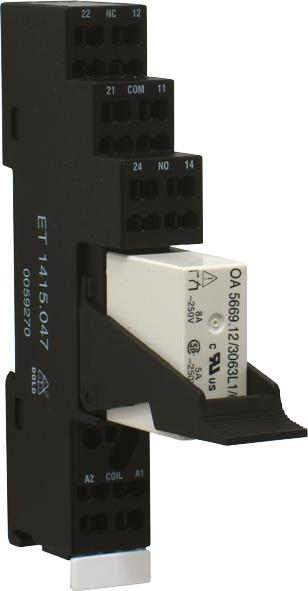 Safety relays with forcibly guided contacts - ET 1415.047