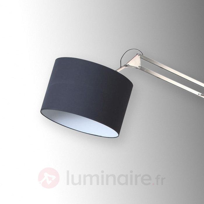Lampadaire textile réglable Mirani - Lampadaires en tissu