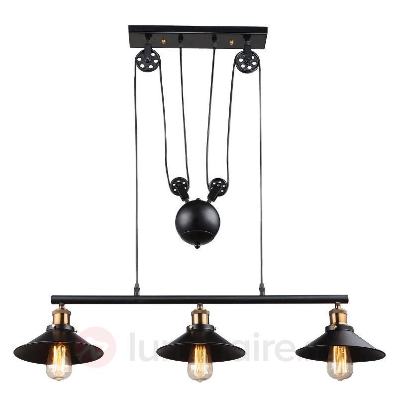 Suspension Viktor à trois lampes, hauteur variable - Cuisine et salle à manger