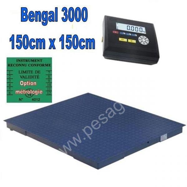 Balance industrielle 3000Kgs écart 1000grs - Balances au sol (ACIER et INOX)