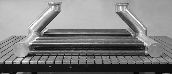 Aluminium-Wärmeaustauscher für den Generatorschalter  - Schweisskonstruktionen für Energiewirtschaft