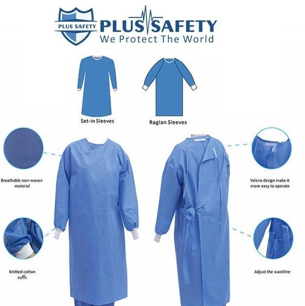 batas cirúrgicas batas descartáveis hospitalares  - Bata de proteção médica descartável  SS / SMS Bata de proteção cirúrgic