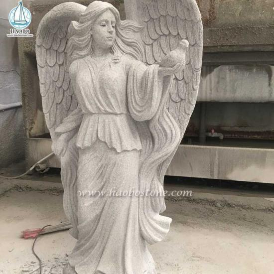 Granite Sculpture Angel Carving Statue - Angel Statues