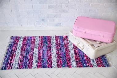 Handloom rug made of velour. Very soft  -