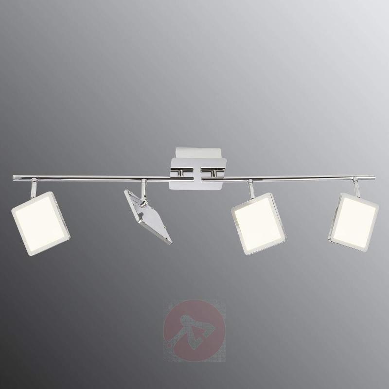 Modern, dimmable LED ceiling light Uranus, chrome - Spotlights