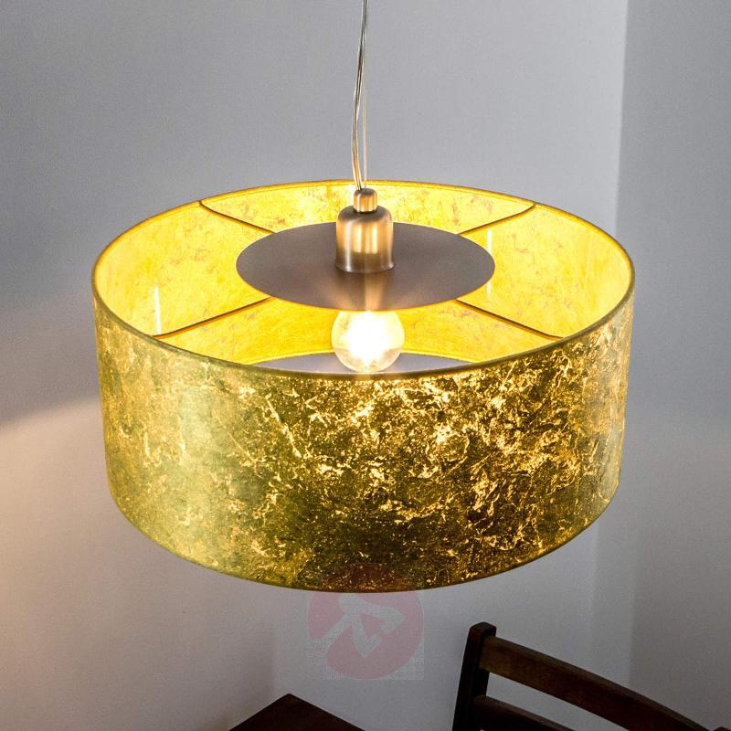 Exclusive hanging lamp Aura with a golden finish - Pendant Lighting