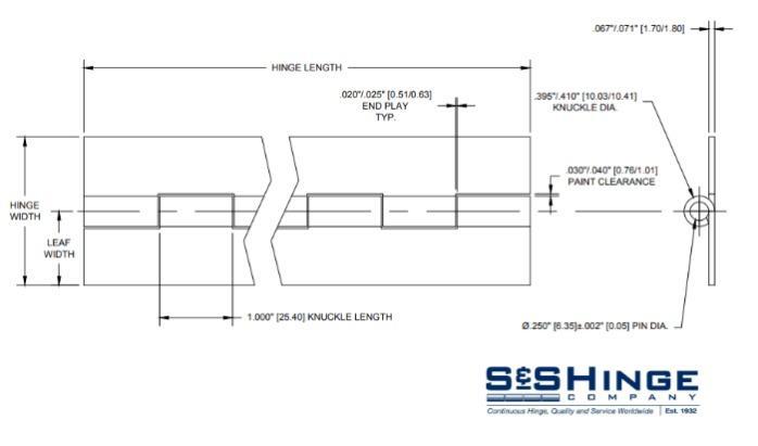 Hinges - 1300 Series - CAD files - 1309x96